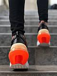Мужские кроссовки в стиле Nike Air Force 270 black/orange (Реплика ААА), фото 5
