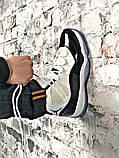 Мужские кроссовки в стиле Air Jordan 11 Retro white/black (Реплика ААА), фото 6