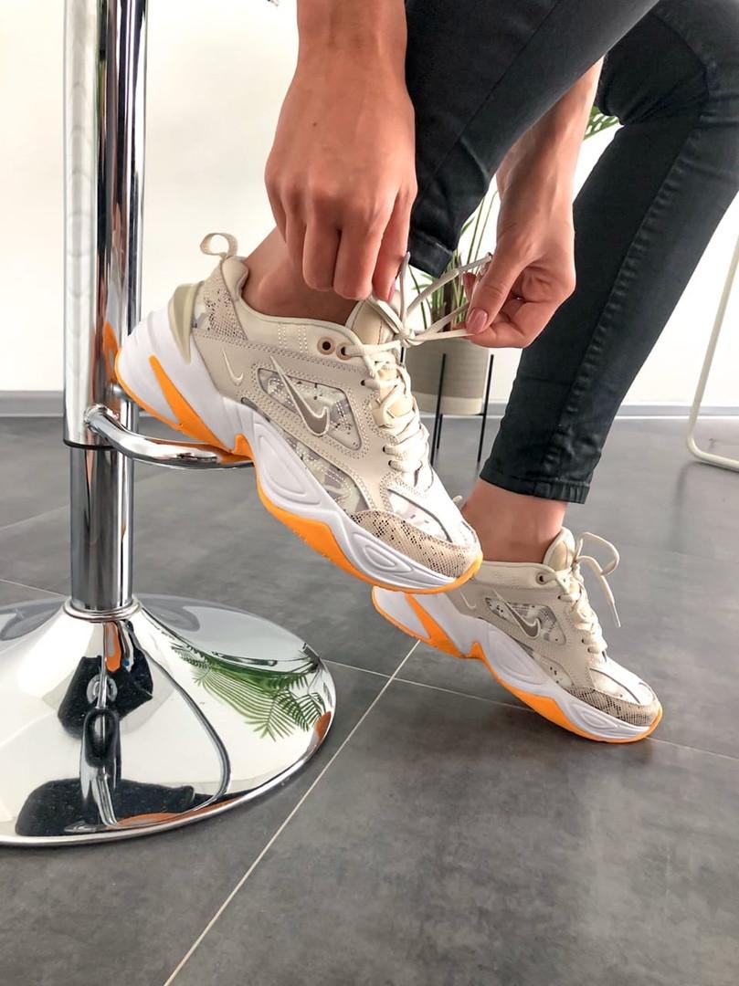 Женские кроссовки в стиле Nike M2K Tekno Desert Camo Snake, Найк М2К Текно (Реплика ААА)