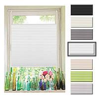 M7-440274, Плисированные жалюзи на окно (80*130 см), белый