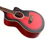 Набор акустическая гитара Bandes AG-831C RD 38+ чехол, фото 2