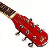 Набор акустическая гитара Bandes AG-831C RD 38+ чехол, фото 4
