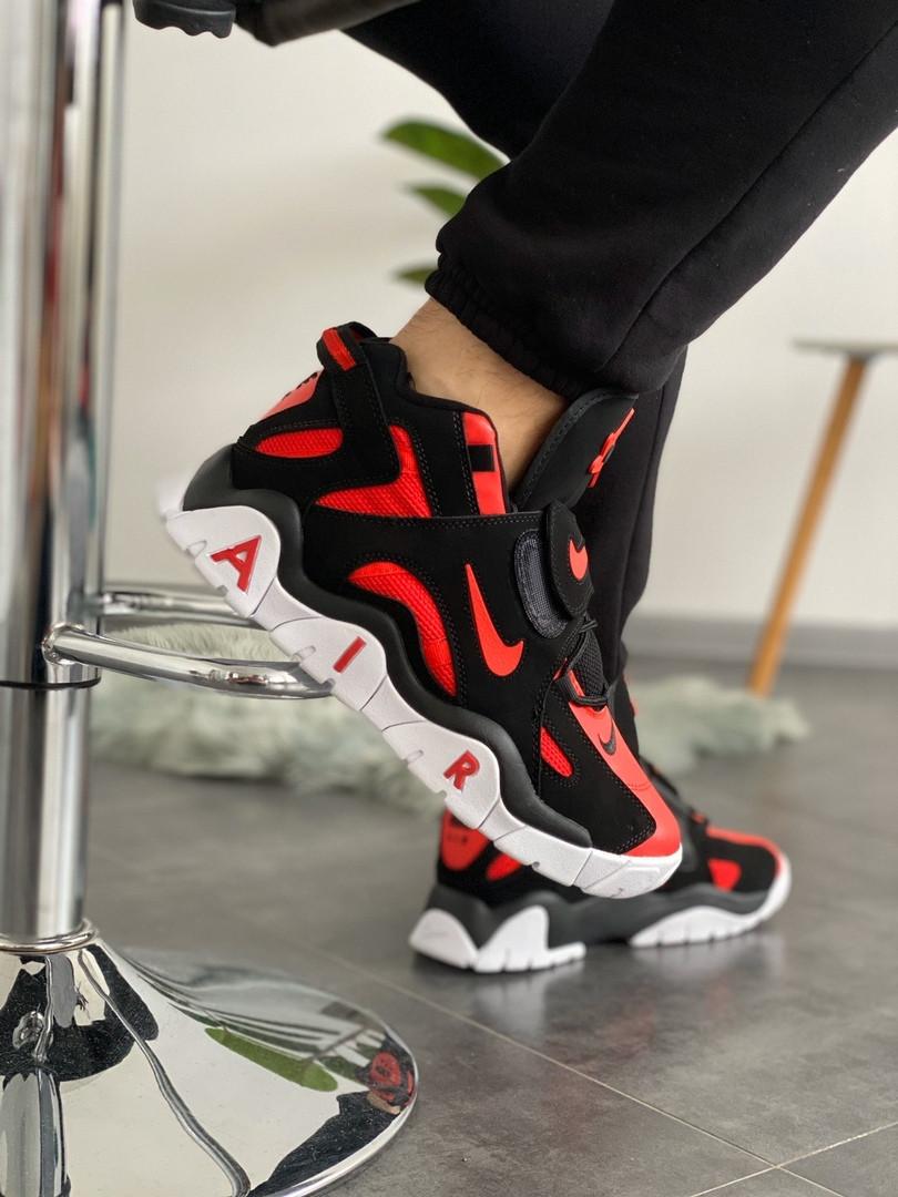 Мужские кроссовки в стиле Nike Air Barrage Mid QS University Red Black (Реплика ААА)