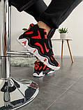 Мужские кроссовки в стиле Nike Air Barrage Mid QS University Red Black (Реплика ААА), фото 2