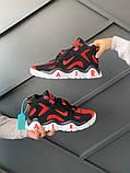 Мужские кроссовки в стиле Nike Air Barrage Mid QS University Red Black (Реплика ААА), фото 6