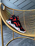 Мужские кроссовки в стиле Nike Air Barrage Mid QS University Red Black (Реплика ААА), фото 7