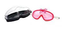 Детская маска для плавания под водой розовая Anti Fog Eunia