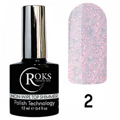 Топ без липкого шару Top Non Wipe Shimmer Roks №2 OPIUM/ROKS 12 мл