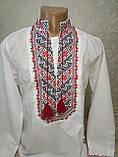 Мужская вышиванка с красной вышивкой, фото 2