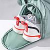Дорожная сумка для ручной клади женская бордовая с отделением для обуви и карманами, фото 5