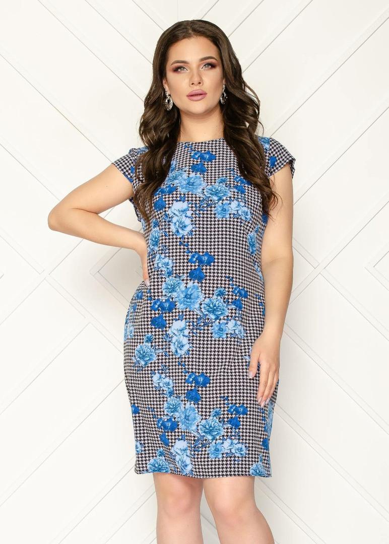 Женское платье батал, супер - софт, р-р 50; 52; 54; 56
