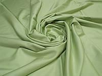 Ткань для пошива постельного белья сатин гладкокрашеный Золотисто-Зеленый, фото 1