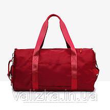 Дорожня сумка для ручної поклажі жіноча м'ятна з відділенням для взуття і кишенями, фото 3