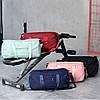 Дорожня сумка для ручної поклажі жіноча м'ятна з відділенням для взуття і кишенями, фото 5