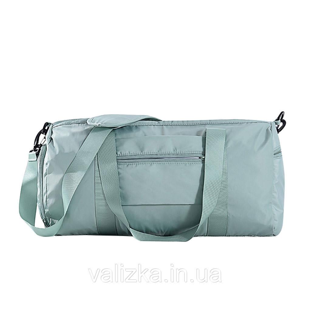 Дорожня сумка для ручної поклажі жіноча м'ятна з відділенням для взуття і кишенями