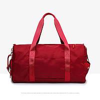Спортивная сумка женская для зала / фитнеса мятная с отделением для обуви
