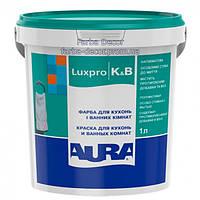 Краска AURA Luxpro K&B акрилатная дисперсионная для кухонь и ванных комнат, 1 л