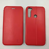 Чехол книжка для Xiaomi Redmi Note 8T Baseus Premium Edge телефона с магнитом Красный