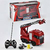 Машина пожарная на р/у 666-191 А (12) аккумулятор 4.8V, брызгает водой, свет, звук, в коробке