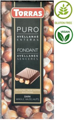 Шоколад Torras Dark Hazelnuts 200 g, фото 2