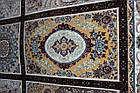 Коврик восточная классика РОКСОЛАНА G139 1,5Х2,25 КОРИЧНЕВЫЙ прямоугольник, фото 3