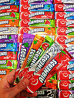 Airheads Bars Chewy Fruit Taffy Candy - Американская жевательная конфета: Cherry Grape Mystery Watermellon 15g