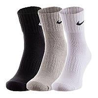 Носки Nike U NK CUSH QT 3PR-VALUE разноцветные (3 пары) SX4926-901