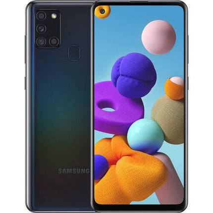 Смартфон Samsung Galaxy A21s 3/32GB Dual Sim Black (SM-A217FZKNSEK) UA, фото 2