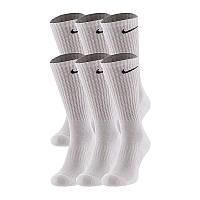 Носки Nike Everyday Cushion Crew белые (6 пары) SX7666-100