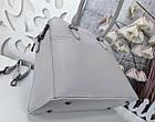 Женская серая сумка, эко-кожа люкс качества, фото 4