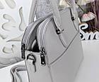 Женская серая сумка, эко-кожа люкс качества, фото 6