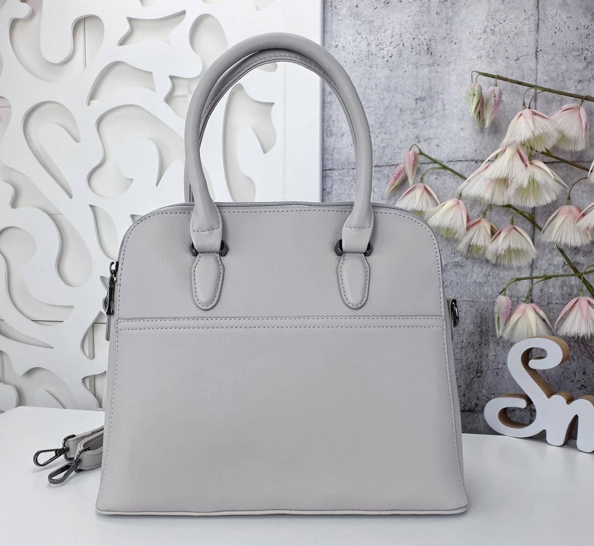 Женская серая сумка, эко-кожа люкс качества