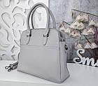 Женская серая сумка, эко-кожа люкс качества, фото 8