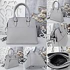 Женская серая сумка, эко-кожа люкс качества, фото 5