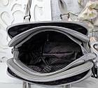 Женская серая сумка, эко-кожа люкс качества, фото 2