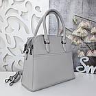 Женская серая сумка, эко-кожа люкс качества, фото 9