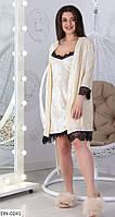 """Комплект женский хала+ночная рубашка мод 25 (42, 44, 46, 48) """"SEDATO"""" недорого от прямого поставщика, фото 1"""