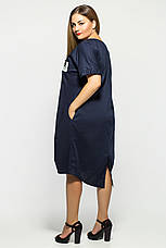 Сукня жіноча натуральна бавовняна синє розміри: 50-58, фото 3