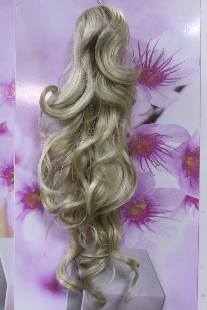 Шиньон искусственные волосы термоволокно волна блонд