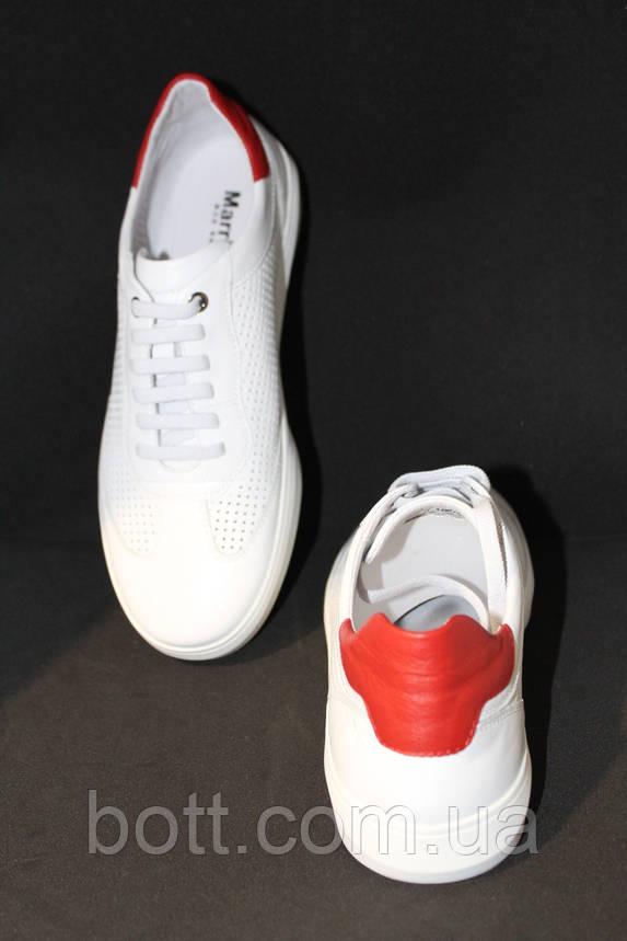 Кеды белые кожаные летние, фото 2