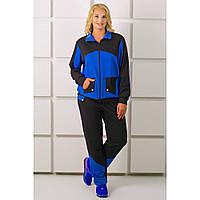 Стильный, спортивный костюм большого размера, Бонита цвета электрик
