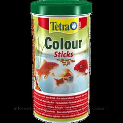 Tetra Pond Colour Sticks плавающие гранулы для усиления окраса прудовых рыб, 1л