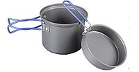 Кастрюля-кружка 0,9 л. анодированная с крышкой-сковородкой