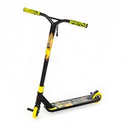 Самокат трюковий Explore Sterling Super New чорний з жовтим + пеги ( колеса литий дюраль )