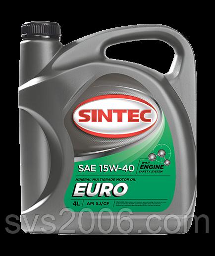 Масло моторное 15W-40 SINTEC EURO SJ/CF, 4л, минерал