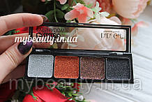Глиттерные тени для век DoDo Girl 4 Colors Glitter Eyeshadow 4-х цветная D8010