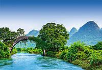 Фотообои 3D природа, лес Wizard+Genius Мост через реку в Китае (5031WG)