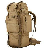 Рюкзак тактический A21 70 л, песочный, фото 1