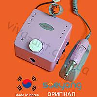 Фрезер К-35 Cube для маникюра, розовый, без педали, (КОМПЛЕКТАЦИЯ НА ВИБОР) ОРИГИНАЛ