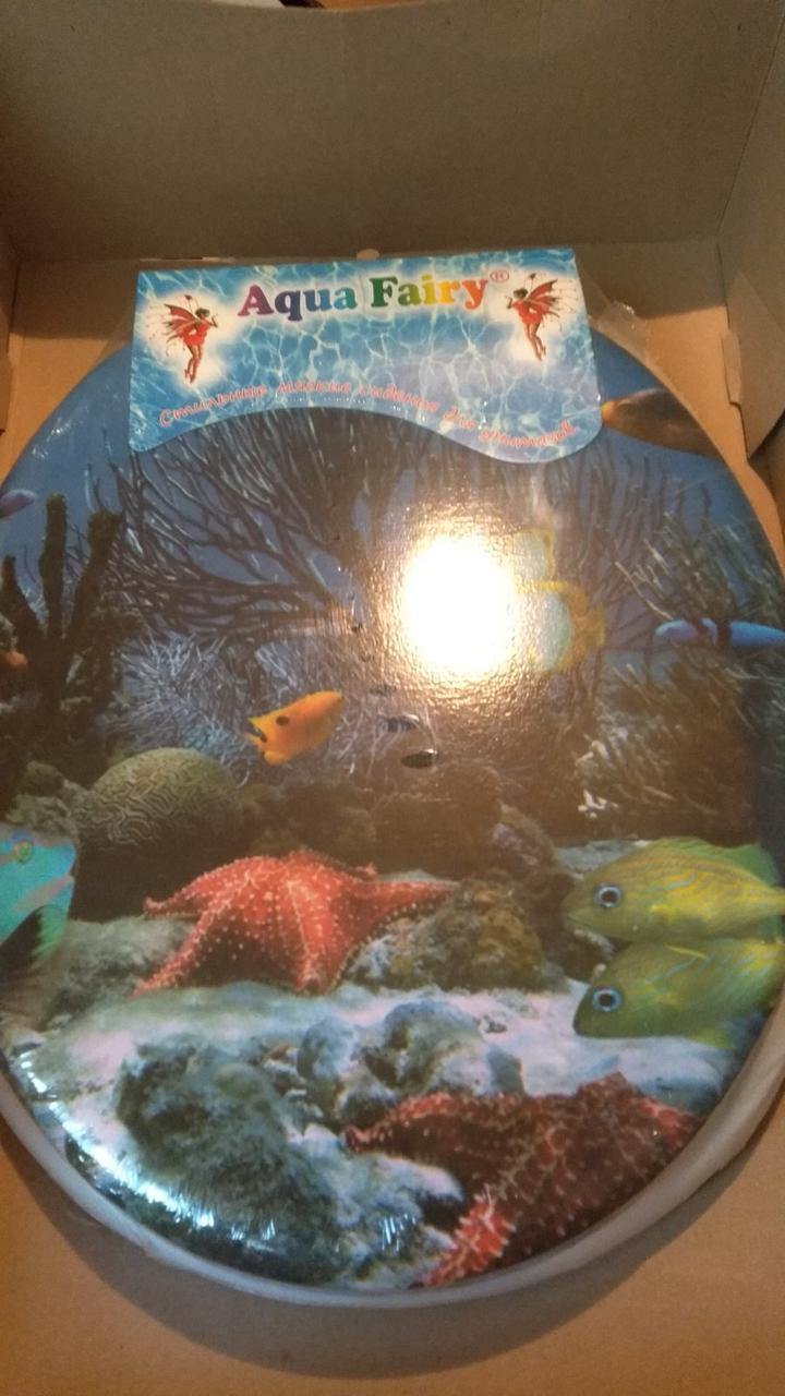 Сиденье  мягкое универсальное для унитаза Agua Fairy Аквариум